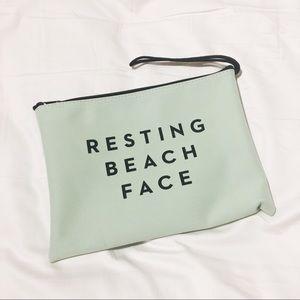 Resting Beach Face Zip Pouch
